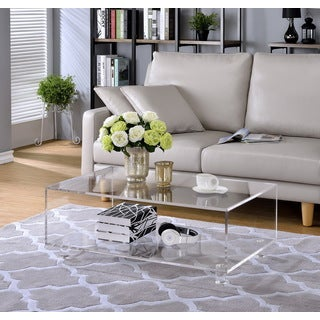 acrylic coffee table cheap acrylic box acrylic tier coffee table shop clear on sale free shipping today