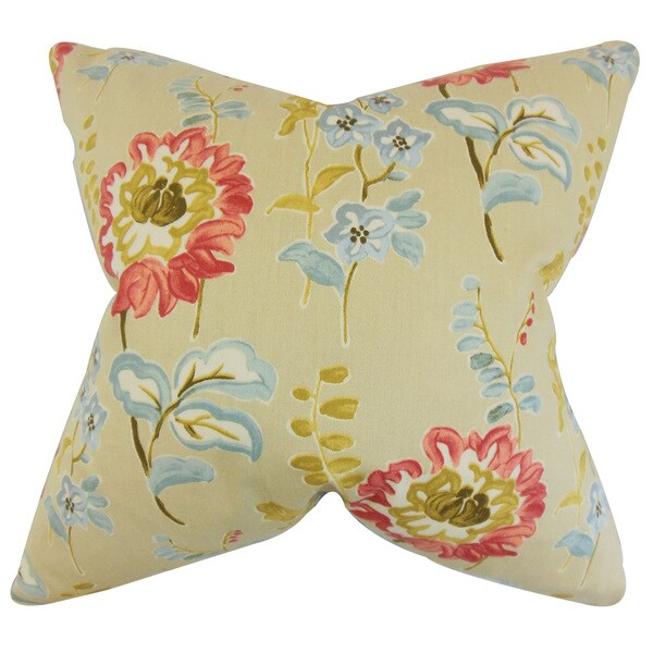 Haley Floral Euro Sham Natural