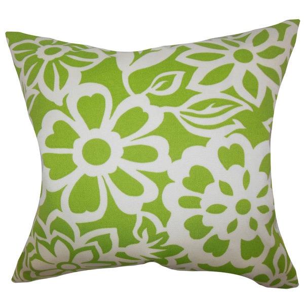 Ozara Floral Euro Sham Green