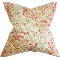 Halcyon Floral Euro Sham Rose Green