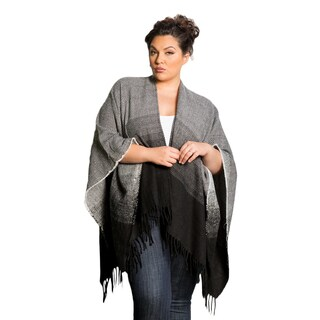 Sealed with a Kiss Women's Plus Size Ombre Poncho