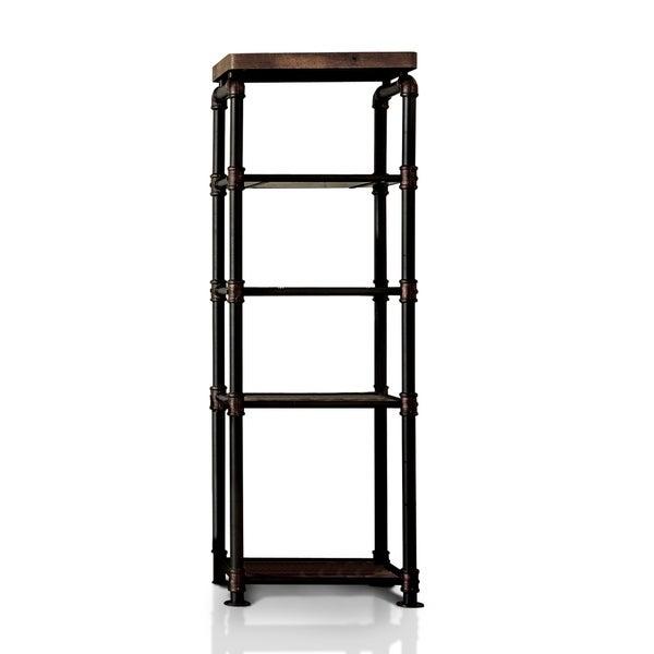 Herman Antique Black Industrial Pier Side Shelf by FOA