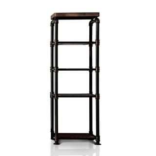 Furniture of America Herman Industrial Black Shelf Pier Cabinet- 1 Side Shelf