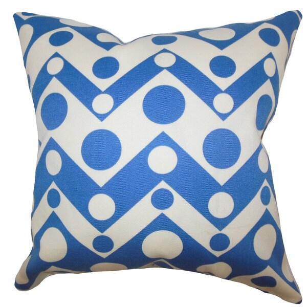 Quenby Geometric Euro Sham Blue
