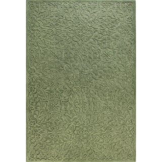 Ariana Blue/Green/Yellow/Off-white Wool Tufted Area Rug (4' x 6') - 4' x 6'