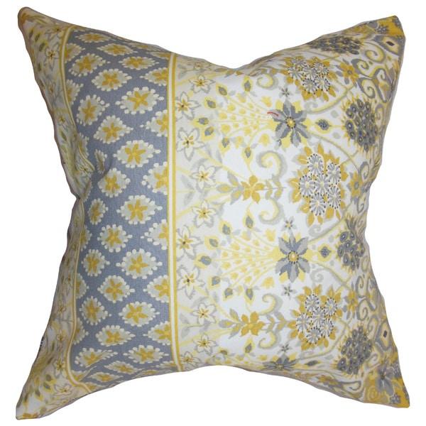 Kairi Floral Euro Sham Yellow