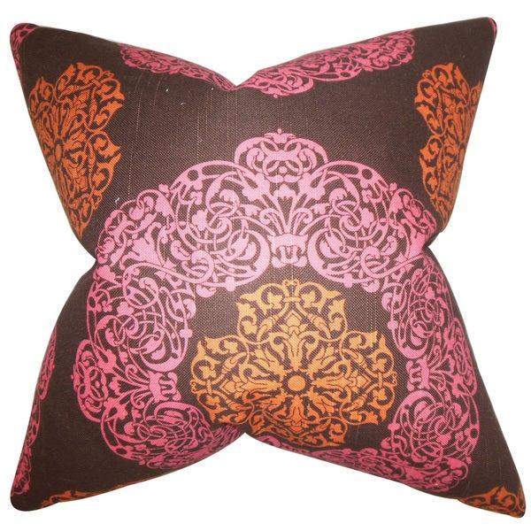 Ilona Geometric Euro Sham Pink Brown