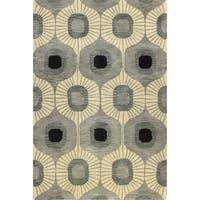 Britanny Tufted Wool Area Rug - 4' x 6'