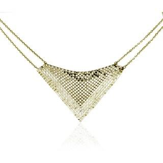 Isla Simone - 18 Karat Gold Electro Plated Specchio Bib Necklace