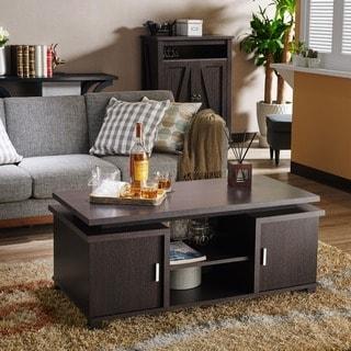 Furniture of America Jede Contemporary Espresso 2-shelf Coffee Table