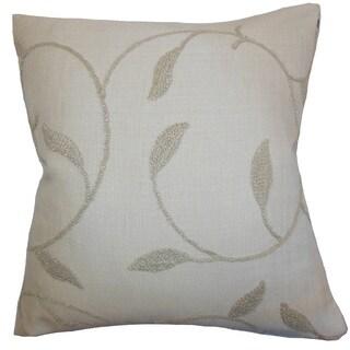 Delyth Floral Euro Sham Linen