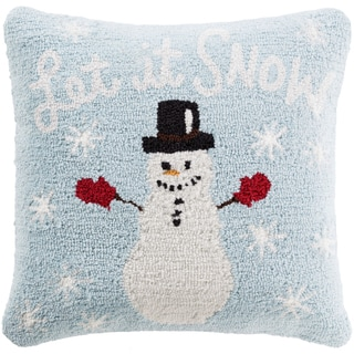 Townshend 18 in. Down or Polly Filled Winter Snowman Holiday Throw Pillow