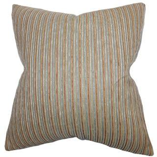 Elke Stripes Euro Sham Brown