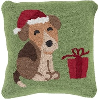Decorative Tiverton 18 in. Feather Down or Polly Filled Holiday Throw Pillow