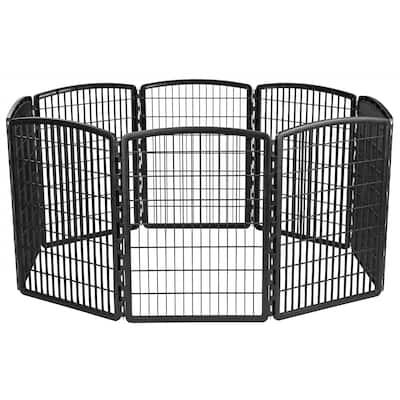 IRIS 34-inch Exercise 8-panel Pet Playpen without Door