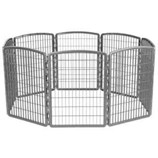IRIS 34-inch Exercise 8-panel Pet Playpen https://ak1.ostkcdn.com/images/products/12884268/P19643423.jpg?impolicy=medium