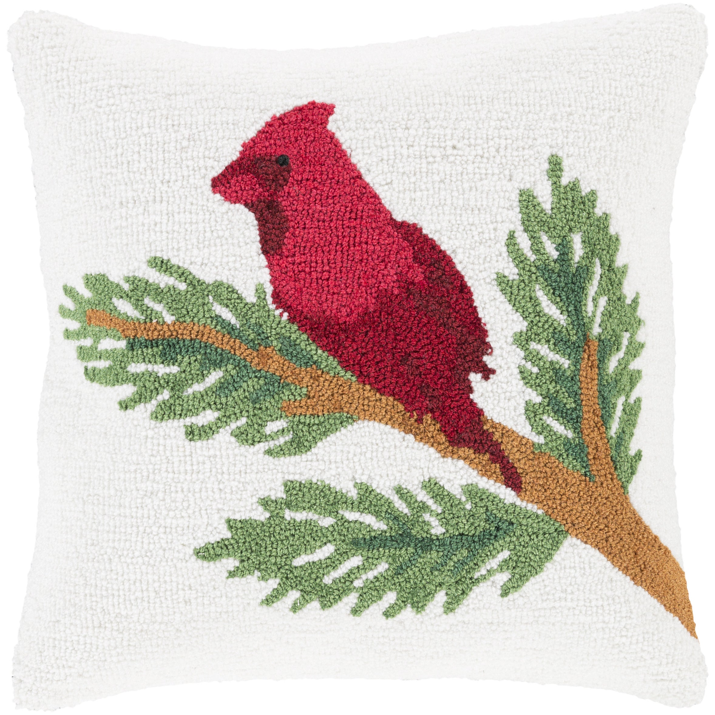 Decorative Tiffani 18 in. Feather Down or Polly Filled Holiday Throw Pillow (Down)