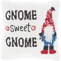 Tidworth 18 in. Feather Down or Polly Filled GNOME Holiday Throw Pillow