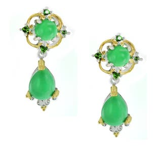 Michael Valitutti Variscite and Chrome Diopside Earrings https://ak1.ostkcdn.com/images/products/12884276/P19643431.jpg?impolicy=medium