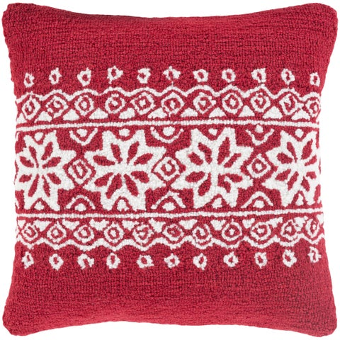 Decorative Thionville 18 in. Feather Down or Polly Filled Holiday Throw Pillow