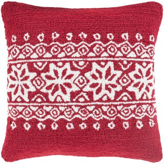 Decorative Thionville 18 in. Down or Polly Filled Holiday Throw Pillow