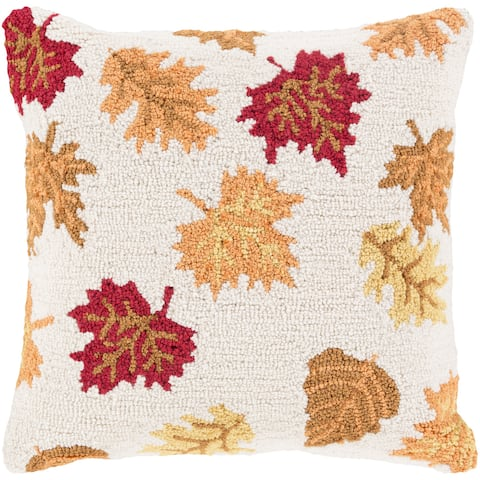 Decorative Taverny 18 in. Feather Down or Polly Filled Holiday Throw Pillow