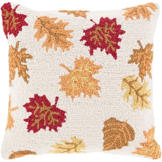 Decorative Taverny 18 in. Down or Polly Filled Holiday Throw Pillow