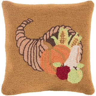 Taunton 18 in. Feather Down or Polly Filled Halloween Holiday Throw Pillow
