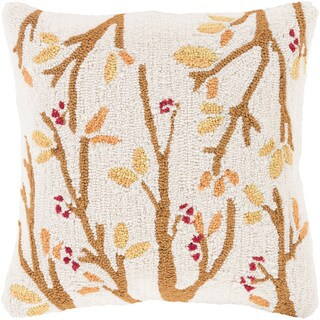 Decorative Swindon 18 in. Down or Polly Filled Holiday Throw Pillow