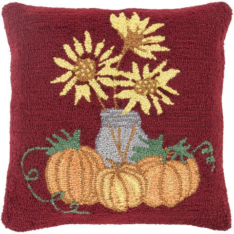 Swaffham 18 in. Feather Down or Polly Filled Halloween Pumpkin Holiday Throw Pillow
