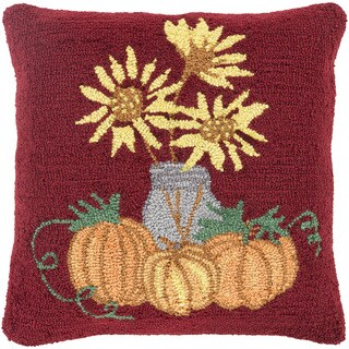 Swaffham 18 in. Down or Polly Filled Halloween Pumpkin Holiday Throw Pillow