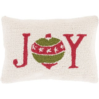 Decorative Trappes Feather Down or Polly Filled Holiday Throw Pillow (13 x 19)