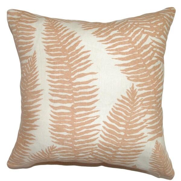 Udele Leaf Euro Sham Coral