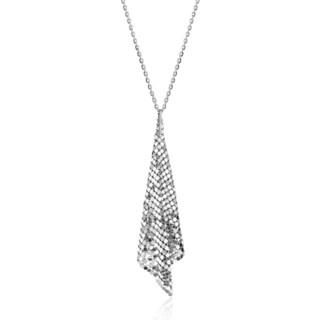 Isla Simone - Fine Silver Plated Specchio Cone Necklace