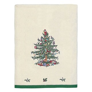 Spode Christmas Tree Holiday Bath Towel