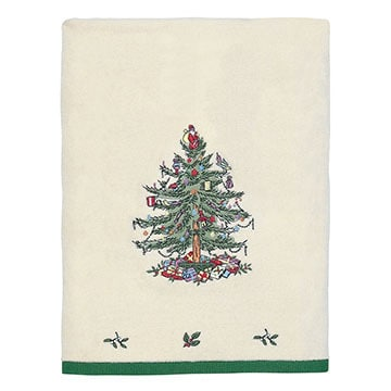 Spode Christmas Tree Holiday Bath Towel - Free Shipping On Orders ...