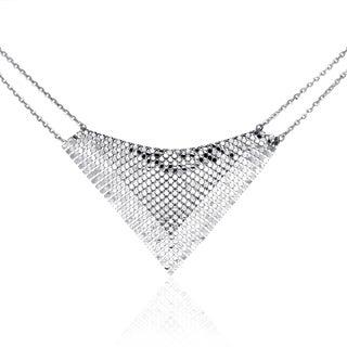Isla Simone - Fine Silver Plated Specchio Bib Necklace