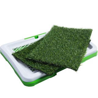 OxGord Dog Training Indoor Potty Trainer Synthetic Grass and Outdoor Restroom Patch Pee Pads for Cats and Puppies