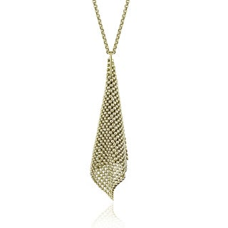 Isla Simone - 18 Karat Gold Electro Plated Perline Cone Necklace