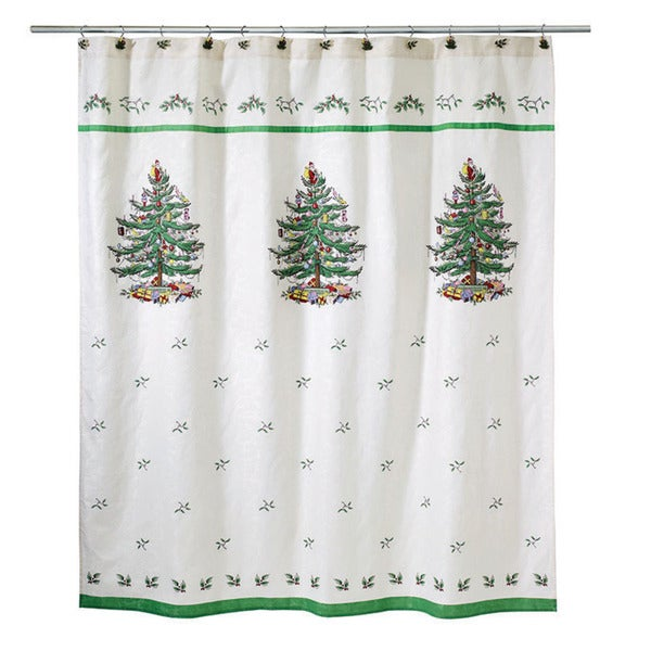 Spode Christmas Tree China Sale: Shop Spode Christmas Tree Holiday Jacquard Shower Curtain
