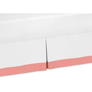 Sweet Jojo Designs White and Coral Mod Diamond Toddler Bedskirt