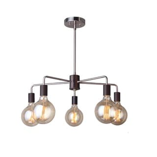 Woodbridge Lighting Ethan Nickel/Brass Steel 5-light Chandelier