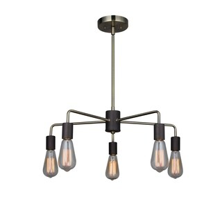 Woodbridge Lighting Ethan Two-tone Steel 5-light Chandelier