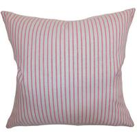 Debrah Stripes Euro Sham Pink