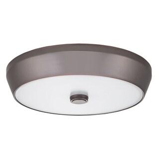Lithonia Lighting Bronze Steel and Acrylic LED Deep Pan Flush Mount