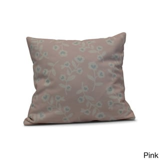 E by Design 26-inch Valentines Floral Holiday Floral Print Pillow (Pink)