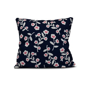 E by Design 26-inch Valentines Floral Holiday Floral Print Pillow
