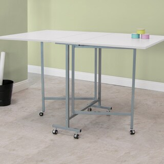 Studio Designs White Powdercoated Craft and Cutting Sewing Table