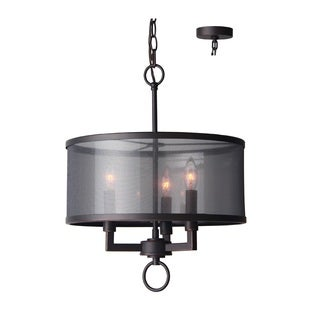 Woodbridge Lighting Jamison Bronze-finished Steel 3-light Pendant Chandelier