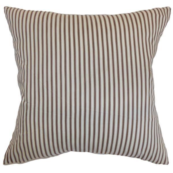 Daxiam Stripes Euro Sham Brown White
